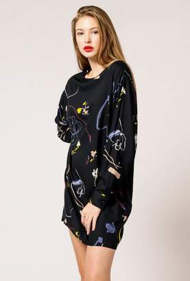 NATIVE YOUTH Floral Cascade Dress
