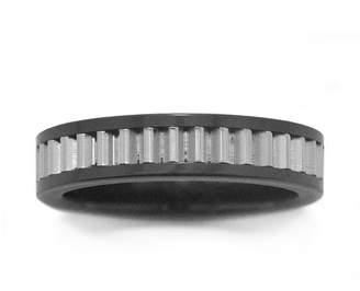 JCPenney FINE JEWELRY Stainless Steel Textured Inlay Band