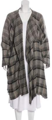 eskandar Plaid Asymmetrical Jacket