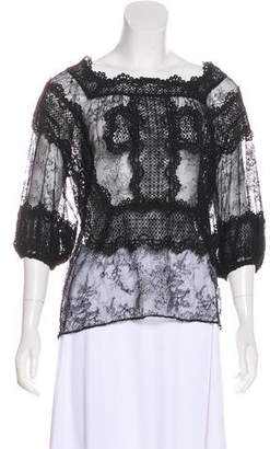 Givenchy Embroidered Lace Blouse