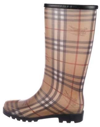 Burberry Rubber Nova Check Rain Boots