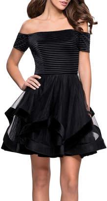 La Femme Off Shoulder Dress