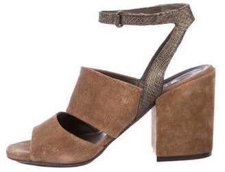 Coclico Suede Peep-Toe Sandals