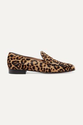 Gianvito Rossi Leopard-print Calf Hair Loafers - Leopard print