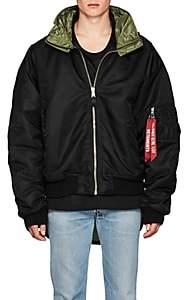 Vetements Men's Hooded Oversized Bomber Jacket - Black