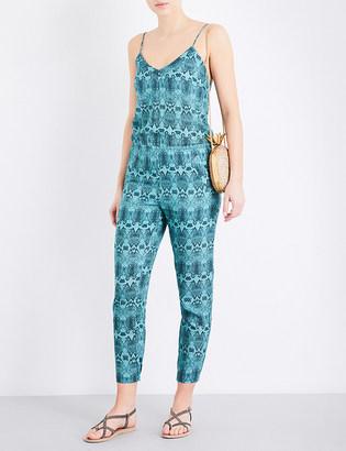 Vix Snake Jane linen-blend jumpsuit $290 thestylecure.com