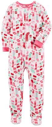 Carter's Girls 4-14 Christmas Footed Pajamas