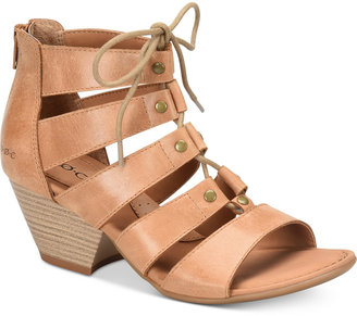 b.o.c. Helma Lace-Up Strappy Sandals $95 thestylecure.com