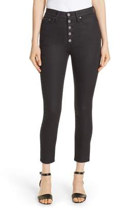 Alice + Olivia Good Exposed Button Skinny Jeans