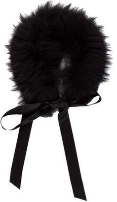 Wolford Satin Fur Collar