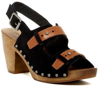 Kelsi Dagger Ben Contrast Chunky Sandal $150 thestylecure.com