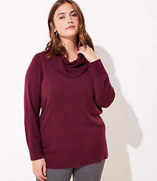 LOFT Plus Cowl Neck Tunic Sweater