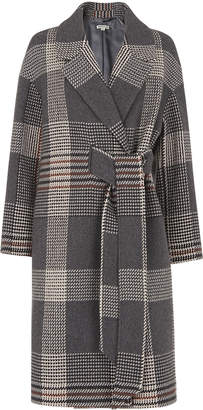 Whistles Check Magdelina Belted Coat