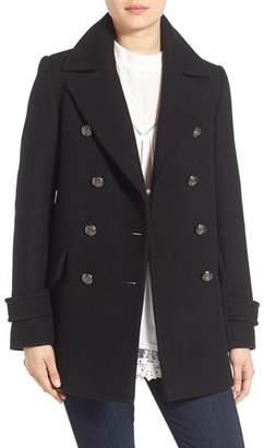 French Connection Wool Blend Peacoat $198 thestylecure.com
