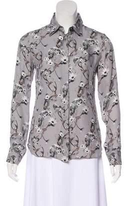 Cushnie et Ochs Floral Print Silk Top