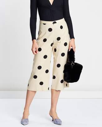 Topshop Lulu Spot Casual Trousers