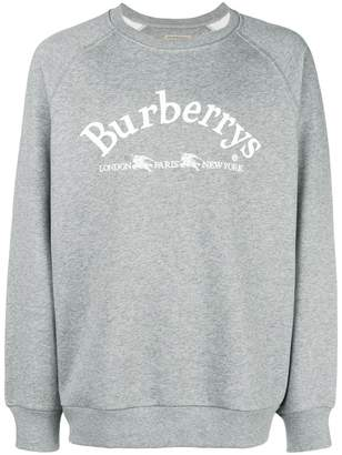 Burberry embroidered archive logo sweater