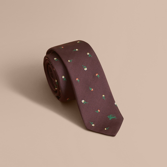 Burberry Slim Cut Floral Silk Jacquard Tie $190 thestylecure.com