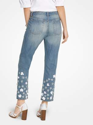 b5fb13341cb MICHAEL Michael Kors Floral Sequined Jeans