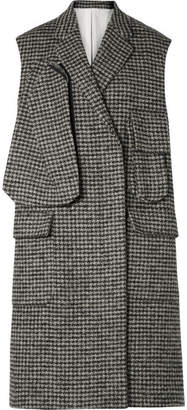 Calvin Klein Oversized Houndstooth Wool-blend Vest - Gray