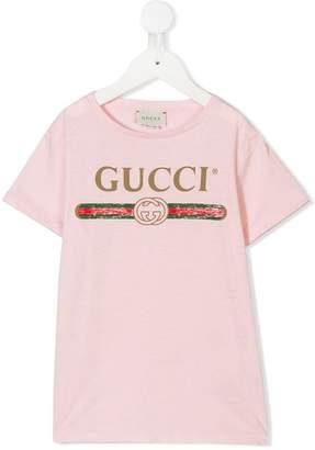 Gucci Kids vintage logo print T-shirt