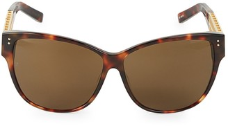 Linda Farrow 63MM Oversized Cat Eye Sunglasses