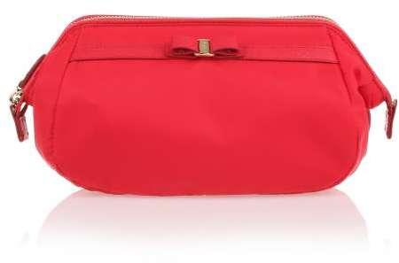 Salvatore FerragamoSalvatore Ferragamo Red Nylon Cosmetic Bag