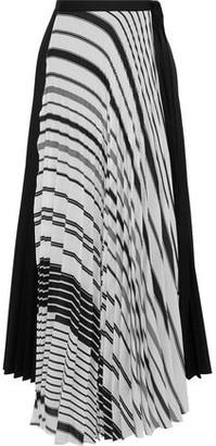 Tome Plisse Printed Poplin Maxi Wrap Skirt