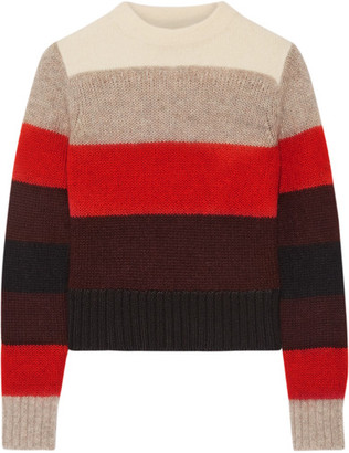 rag & bone - Britton Striped Knitted Sweater - Red $325 thestylecure.com