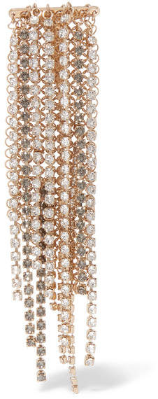 LanvinLanvin - Fringed Gold-tone Crystal Brooch - one size
