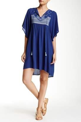 Love Stitch Embroidered Shirt Dress