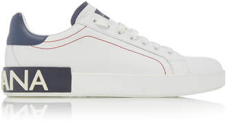 Dolce & Gabbana Logo-Trimmed Leather Sneakers