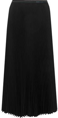 Prada Plisse-crepe Midi Skirt