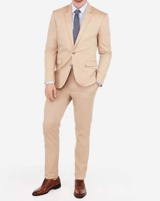 Express Extra Slim Cotton Khaki Oxford Stretch Suit Jacket