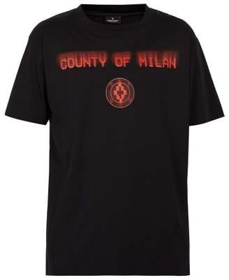 Marcelo Burlon County of Milan Never Sleep Cotton T Shirt - Mens - Black