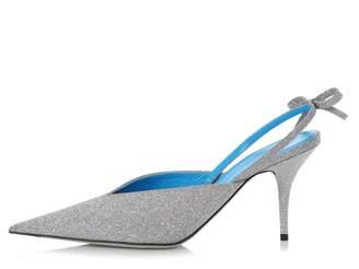 Balenciaga Silver Glitter Sandals