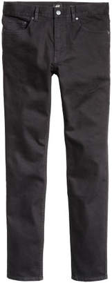 H&M Twill Pants Skinny fit - Black