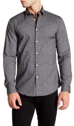 CALIBRATE Black White Micro Grid Print Slim Fit Shirt