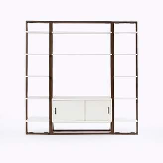 west elm Ladder Shelf Media Console + Shelves Set - Narrow