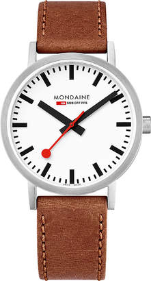 Mondaine A660-30360-16SBT SBB Classic leather and stainless steel watch