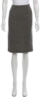 Narciso Rodriguez Herringbone Pencil Skirt