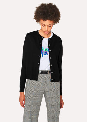 Paul Smith Women's Black Wool-Blend Cardigan
