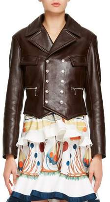 Chloé Classic Double-Breasted Leather Jacket