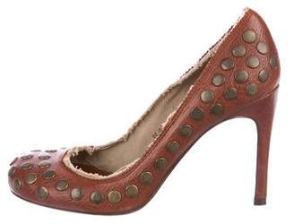 Pedro Garcia Studded Leather Pumps