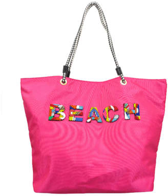 8fdf16ba3 Sondra Roberts Large Beaded Beach Tote
