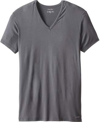 Calvin Klein Men's Micro Modal Short Sleeve V Neck T-Shirt
