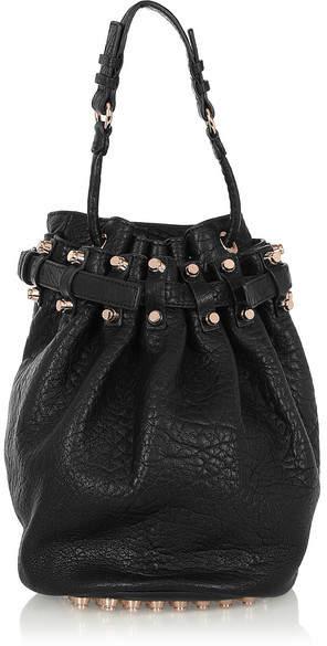 Alexander Wang - Diego Textured-leather Shoulder Bag - Black