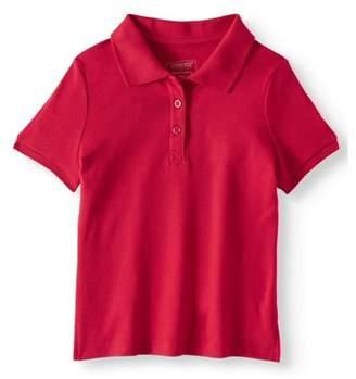 Cherokee Girls School Uniform Short Sleeve Interlock Polo