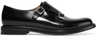 Church's Lora R Buckled Glossed-leather Brogues - Black