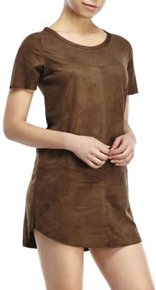 Olivaceous Faux Suede Dress